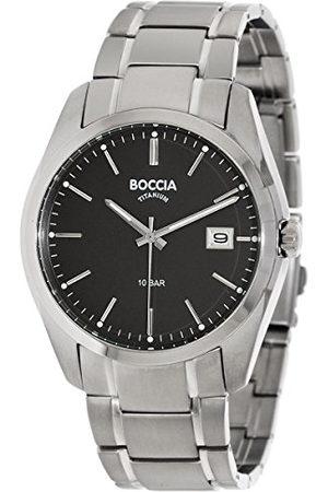 Boccia Herr digital kvarts klocka med titan armband 3608–04