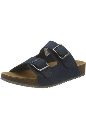 Timberland Unisex barn Castle Island Slide (Youth) Monk-Strap Loafer, marinblå32 EU