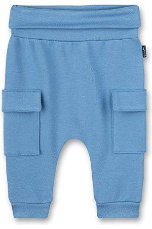 Sanetta Baby-pojkar byxor av stickat tyg blå fritidsbyxor