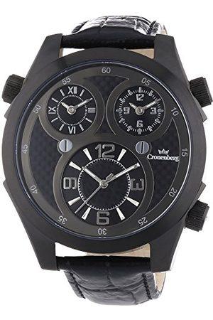 Cronenberg Man Armband - Herr analog kvartsklocka med läderarmband 12072W3