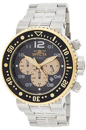 Invicta Analog kvartsklocka för män med rostfritt stålrem 25075