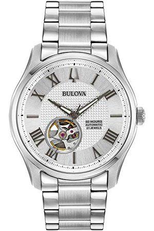 BULOVA Herrar analog automatisk klocka med rostfritt stål armband 96A207