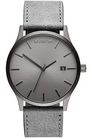 MVMT Herr analog kvartsklocka med läderrem D-MM01-GRGR