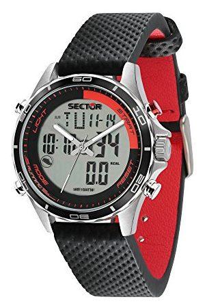 Sector NO LIMITS mäns analog digital kvarts klocka med läder armband R3271615001