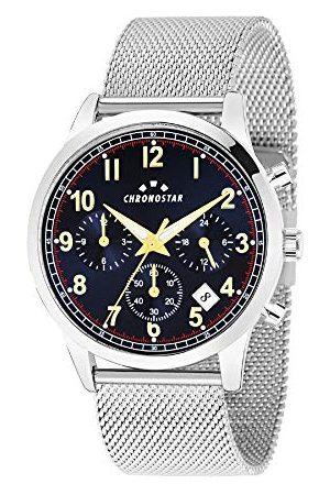 Chronostar Herr multiurtavla kvartsur med rostfritt stål armband R3753269003