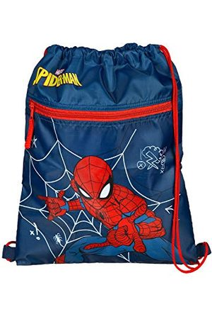 UNDERCOVER SPMA7240 – Skoväska med säkerhetslås, Marvels Spider-Man, gymnastikpåse med dragkedja ca 32 x 41 cm