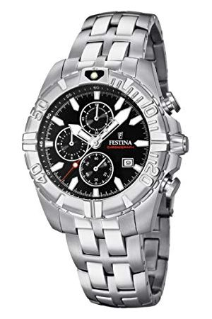 Festina Unisex vuxna kronograf kvarts smartklocka armbandsur med rostfritt stål armband F20355/4