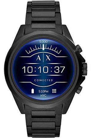 Armani Herr Touchscreen Connected Smartwatch rostfritt stål armband En Storlek