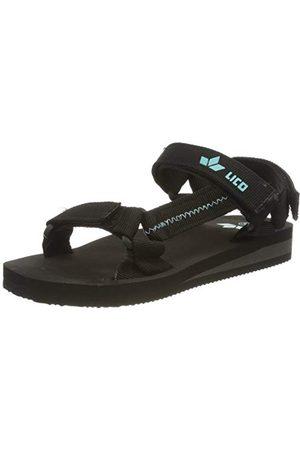 LICO Unisex barn karibik V T-spangen sandaler, turkos turkos34 EU