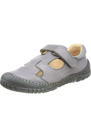 POLOLO Unisex barn Alicante platt sandal, GRÅ - 28 EU