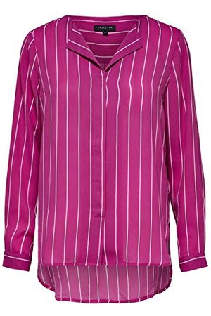 Selected Utvald kvinna dam slfdynella randig Ls Shirt B blus