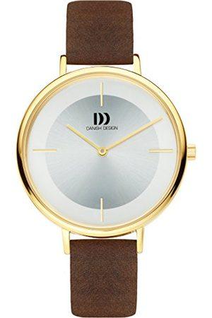 Danish Design Dansk design kvinnors analoga kvartsur med läderrem IV15Q1185