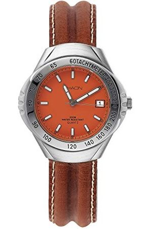 Shaon Herr analog kvartsklocka med läderarmband 35–6010–66