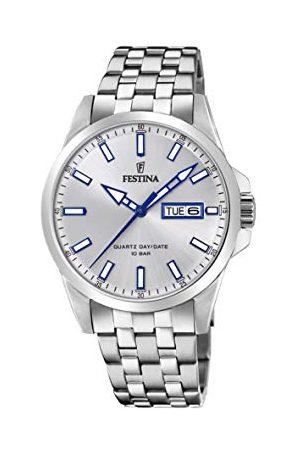 Festina Herrar analog kvarts klocka med rostfritt stål armband F20357/1