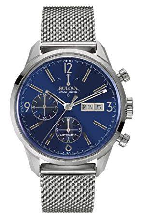 BULOVA Armbandsur för män kronograf automatisk rostfritt stål Mörkblå