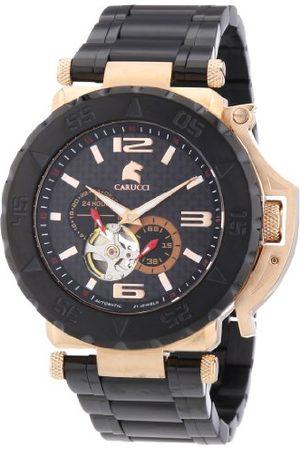 Carucci Watches herrarmbandsur XL Teramo analog automatisk rostfritt stål belagd CA2199BK-RG