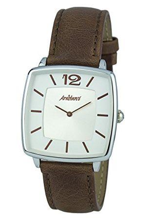 ARABIANS Analoga kvartsklocka för män med läderrem HBA2245M