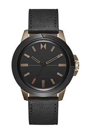 MVMT Herr analog kvartsklocka med läderrem 28000077-D
