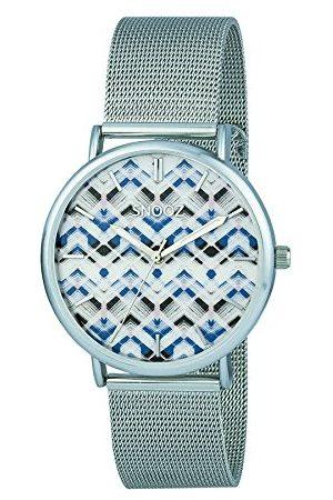 Snooz Herr analog kvartsklocka med rostfritt stål armband Saa1042-74