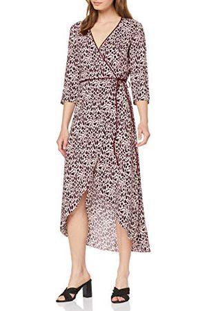 Miss Selfridge Dambär och vitt djurtryck midi-wrap klänning