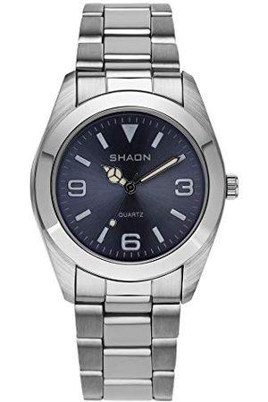 Shaon Analog kvarts klocka för män med rostfritt stål armband 22-7121-98