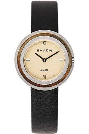 Shaon Herrar analog kvarts klocka med läderarmband 36-6014-24