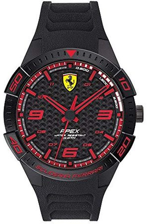 Scuderia Ferrari Herr analog kvartsklocka med silikonrem 0830662