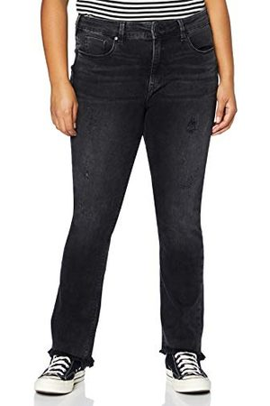 Herrlicher Super G Boot Cropped Denim Black Cashmere Touch Jeans
