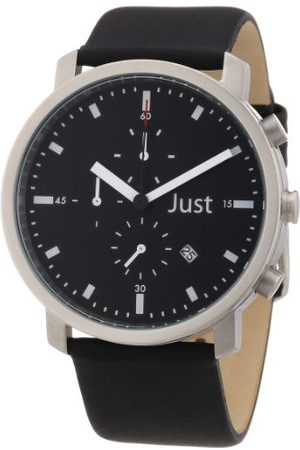 Just Watches Unisex-armbandsur analog läder 48-S3195-BK
