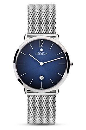 Michel Herbelin Herr analog kvartsklocka med rostfritt stål armband 19515/15B