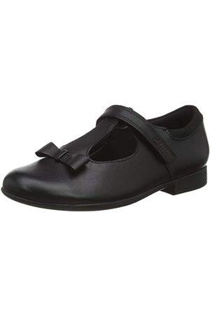 Clarks Flickor scala hopp K uniform klänning sko, Svart1 UK
