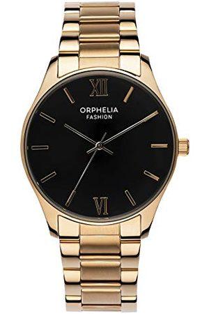 ORPHELIA Mode herr analog klocka Oxford med rostfritt stålband Armband