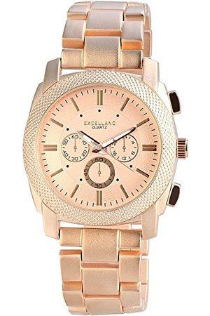Excellanc Herr analog kvartsklocka med olika material armband 28093550002