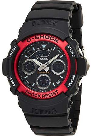 Casio G-Shock analog-digitalt herrarmbandsur AW-590 armbandröd