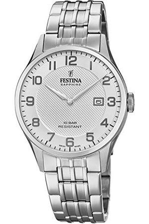 Festina Unisex vuxna analog kvartsklocka med rostfritt stål armband F20005/1
