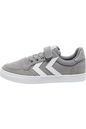 Hummel Unisex barn smal stad Low Jr Sneaker, Frost grå29 EU