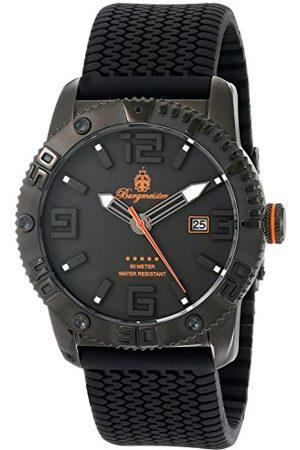 Burgmeister Kvartsklocka för män med urtavla analog display och silikonrem BM522-622B