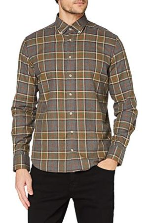 Hackett Herr Grey Multi Plaid Shirt