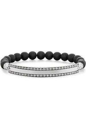 Thomas Sabo Unisex-armband Love Bridge dödhuvud 925 onyx svart 18,5 cm – LBA0089-704-11-L18.5