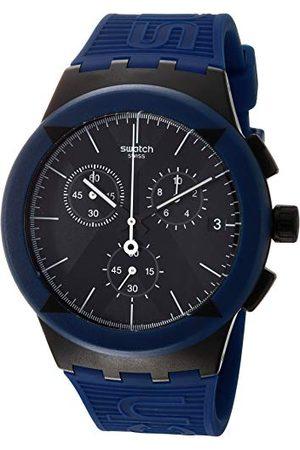 Swatch Mäns kronograf kvarts klocka med silikonarmband SUSB418
