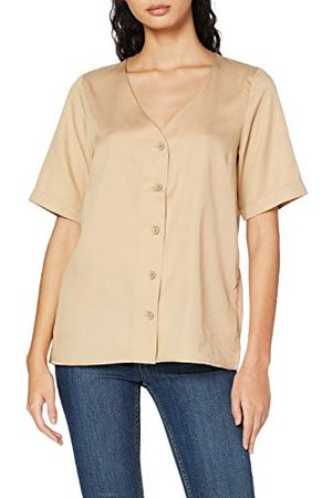 Pieces Damer Pcmarylee Ss V-hals topp bc blus