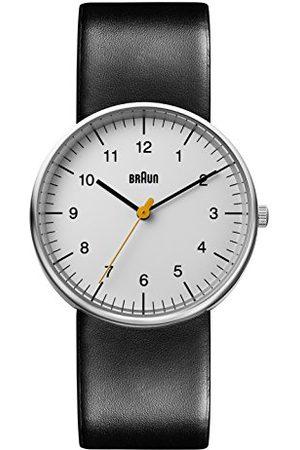 von Braun Analog klassisk kvartsklocka med läderrem BN0021BKG