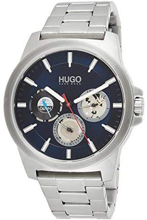 HUGO BOSS Herr analog kvartsklocka med rostfritt stålrem 1530131