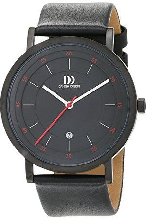 Danish Design Dansk design herr analog kvartsklocka med läderarmband 3314527