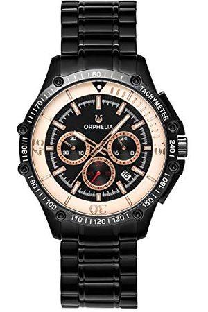 ORPHELIA Herr kronograf klocka frenetisk med rostfritt stålband Armband /
