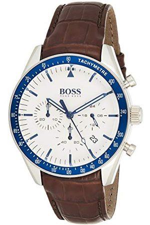 HUGO BOSS Mäns kronograf kvarts klocka med läder armband 1513629
