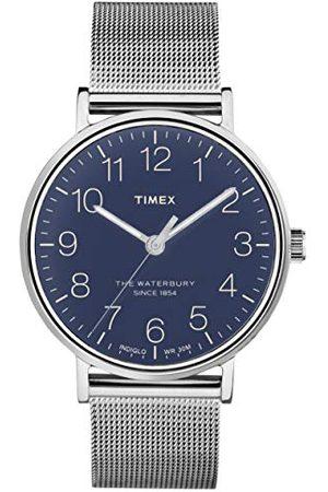 Timex Mäns analog kvarts klocka vattenbury armband /blå