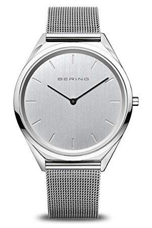Bering Unisex analog kvartsklocka med rostfritt stål armband 17039-000