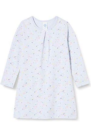Sanetta Flicka sovskjorta ljusblå nattlinne delikat med en detaljerad rouge overall