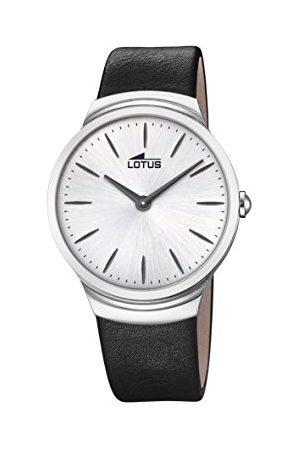 Lotus Lotus klockor herr analog klassisk kvartsklocka med läderrem 18498/1
